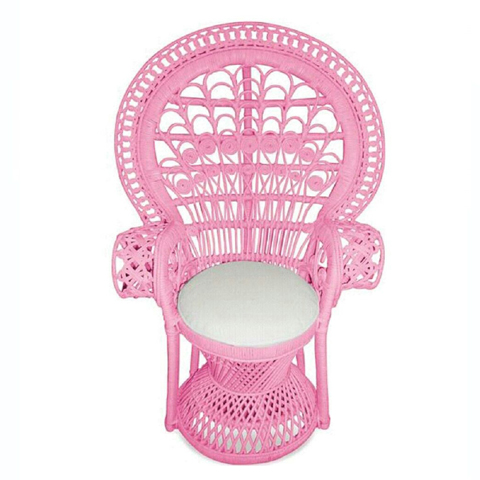 Partini Hire Pink Peacock Chair