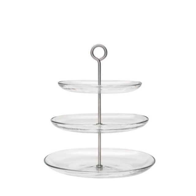 Partini three tier glass cake stand